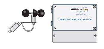 Centrală Detecție Ploaie Vânt Cu Senzor Extern